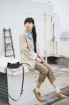 Wearing casual summer outfit..Mori Girl..<3