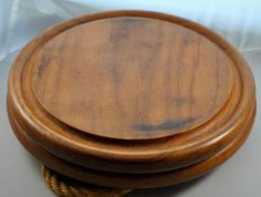 Danish Teak Wood Platters / Trays Set of Two by kimple674250,