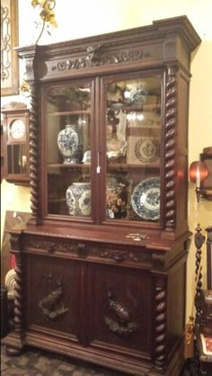 Wichita Falls Furniture Stores ... twist oak hunt cabinet Antiques from Europe, Wichita Falls, Tx. Sold