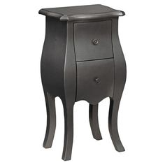 Clara Accent Table in Metallic Gray