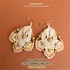 Lotus Macrame Flower Tutorial (Video) ~~~~~~~~~~~~~~~~~  Class level - Intermediate - Advanced Basic knowledge of macrame knotting is required.