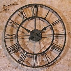 Vintage Style Outdoor Clock — The Worm that Turned #rustic