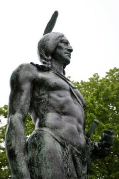 This statue of Wampanoag leader Massasoit is in Plymouth, Massachusetts. (Courtesy Native Plymouth Tours)