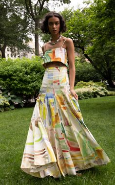 Pleated Printed Cotton-Poplin Maxi Skirt by Rosie Assoulin Maxi Outfits, Trendy Outfits, Fashion Outfits, Fashion 2020, Fashion News, Rock, Mode Inspiration, Skirt Fashion, Short