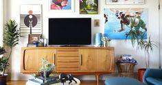 Coloque quadros atrás da TV