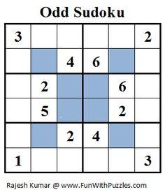 Odd Sudoku (Mini Sudoku Series #18)