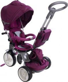 Rowerek trójkołowy Little Tiger - bordowy Baby Strollers, Genere, Happy Kids, Children, Sun, Products, Tricycle, Happy Children, Toddlers