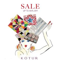 KOTUR Sale: Up to 40% Off on selected minaudieres and shoes.  #sale #summersale #shoesale #bagsale June 2015
