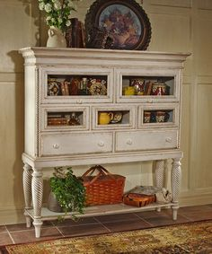Another great find on #zulily! Antique White Wilshire Sideboard Cabinet #zulilyfinds