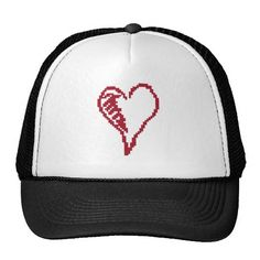 heart squiggle cap