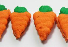 Macarons em formato de Cenoura