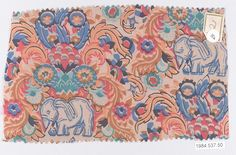 Textile sample  Designer:Dagobert Peche (Austrian, St. Michael im Lungau 1887–1923 Mödling bei Wein) Manufacturer:Wiener Werkstätte Date:ca. 1920 Medium:Silk Dimensions:5 1/4 × 8 3/4 in. (13.3 × 22.2 cm) Classification:Textiles-Printed