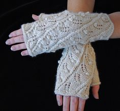 Fingerless glove knitting pattern