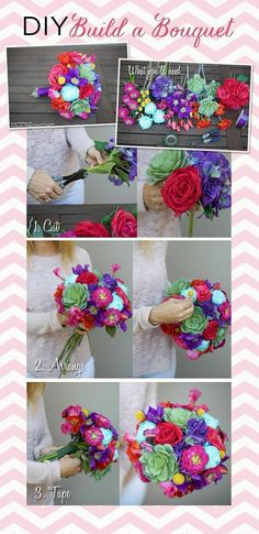 Build your own wedding bouquet with cheap, high-quality faux flowers from Afloral.com!  Great idea for the budget bride.  DIY Wedding Bouquet.