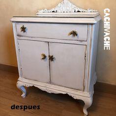 Mesita rescatada Chalk Paint, Nightstand, Vanity, Interior Design, Soya, Table, Painting, Furniture, Home Decor