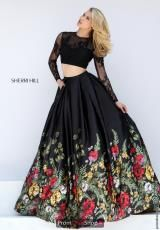 Floral Print Sherri Hill 50599 Lace Open Back Two Piece Dress 2016 Indian Dresses, Indian Outfits, Pretty Dresses, Beautiful Dresses, Robes D'occasion, Modelos Fashion, Long Evening Gowns, Vestidos Vintage, Mode Inspiration