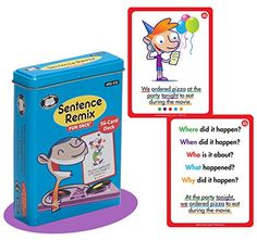 Sentence Remix Fun Deck Readng Comprehension Flash Cards  Super Duper Educational Learning Toy for Kids *** Check this awesome product by going to the link at the image.Note:It is affiliate link to Amazon.