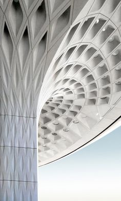 SOM architects' impressive fractal roof canopy for Mumbai International Airport.