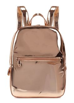 DKNY Rose Gold Leather Backpack - £220.00