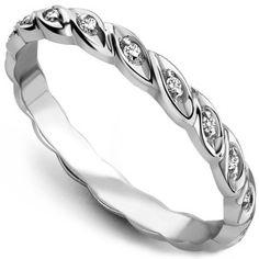 0.13 Carat Entwine Diamond Wedding Ring
