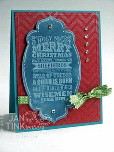 Chalkboard Style O Holy Night Merry Christmas Christian Greeting Card Handmade in Blue Red Green    In this holy season, a greeting card that keeps the