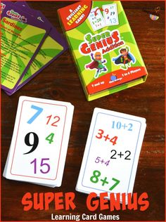 Learning card games that will make kids THINK! (Addition, Multiplication, and Reading)