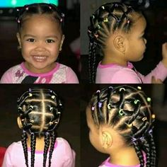 Toddler Braided Hairstyles, Mixed Girl Hairstyles, Twist Braid Hairstyles, Natural Hairstyles For Kids, Natural Hair Updo, Natural Hair Styles, Toddler Braids, Kids Hairstyle, Braids With Shaved Sides