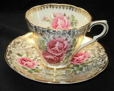 Rose Chintz Cup and Saucer Cup And Saucer Set, Tea Cup Saucer, Vintage China, Vintage Tea, Teapots And Cups, Teacups, China Tea Cups, Rose Tea, My Cup Of Tea