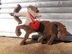 Wooden Valentine Centaur Bow,Arrow with red heart,Mythology half horse,half man by DesertHeartsCo on Etsy