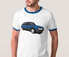 Facelifted version of Saab 900 Turbo Aero Coupé printed on on T-shirts, coffee mugs and many other gifts. Saab 900 Turbo, Classic Cars, Prints, Mens Tops, T Shirt, Fashion, Cutaway, Moda, Tee Shirt