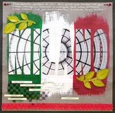 Layout for Allt Om Scrap DT: Combining photo with the LO title. Cut with Silhouette. #Scrapbooking #AlltOmScrap