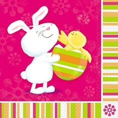 Bunny Pals Easter Luncheon Napkins 16ct -- See this great product.