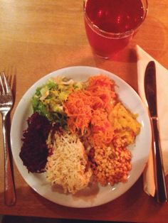 Vegan dinner buffet with my parents :) 