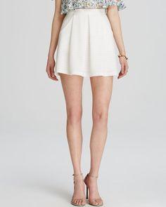 Aqua Skirt - Pointelle Box Pleat
