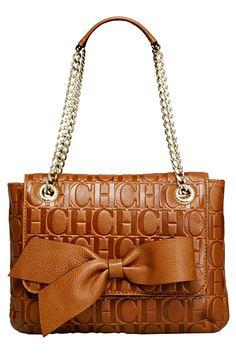 Carolina Herrera bag… I think it would make an excellent anniversary gift since it has CH's all over it! Beautiful Handbags, Beautiful Bags, Sacs Design, Paris Mode, Handbag Accessories, Luggage Bags, Purses And Handbags, Fashion Bags, Shoulder Bag