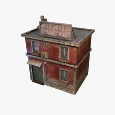 house geto modular low poly 3d model low-poly max obj 3