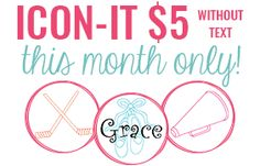 How cute are these Icon-it! (Icon-It $5 without text this month only)