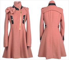 c79977f60e23 wholesale korean style winter long overcoat bow-knot y723-3 red -  26.19  Long