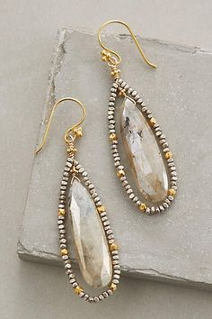 Sterling silver, 22k gold vermeil, rutilated quartz, pyrite anthropologie.com