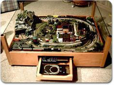 N scale layout 2 feet x 3 feet - Google Search & model railroad in a coffee table | Model train sets | Pinterest ...