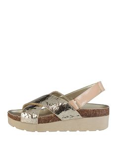 Women's shoes - s/s 2016 collection - 100% made in italy - wedge sandals - upper: leather with lining of synthetic mater - Sandal women Brown