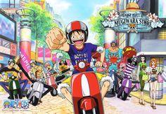 One Piece: One Piece Mugiwara Store Taiwan Postcard - Minitokyo One Piece Manga, One Piece Series, Sanji One Piece, One Piece World, One Piece 1, One Piece Images, One Piece Pictures, Zoro, Anime Comics