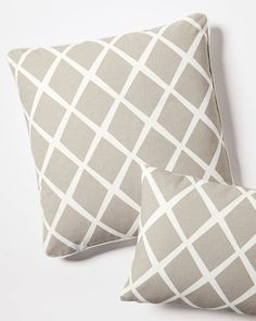 """Diamond Pillow Covers - 24"""" square $38.99 was $78 bark (shown) 