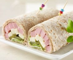 Bologna and Havarti wrap Havarti Cheese, Whole Wheat Tortillas, Sweet Pickles, Pickle Relish, Quick Recipes, Cooking Time, Sushi, Brunch, Rolls