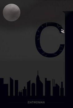 Top 43 des posters de super-héros (et vilains) en version abécédaire Helvetica minimaliste
