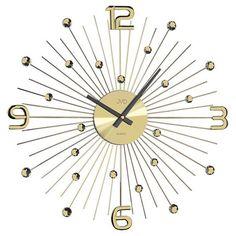 Crystal nástenné hodiny JVD HT074.1 49 cm nastenne hodiny, na stenu, dekoracie do bytu, dizajn