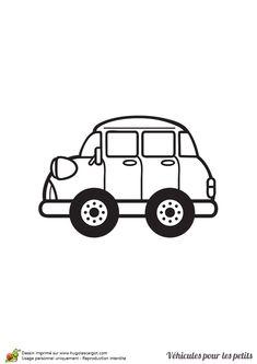 Un petit v hicule rapide colorier v hicules pinterest - Dessin voiture profil ...