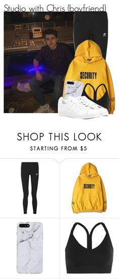 """Studio with Chris"" by pumarosee on Polyvore featuring adidas Originals, Justin Bieber, adidas, chrismiles, magcon, oldmagcon and newmagcon"