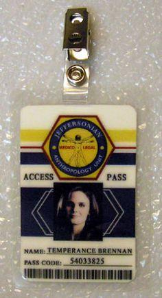 Bones Jeffersonian TV ID Badge Temperance Brennan Costume Prop Cosplay | eBay