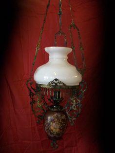 old hanging lamp rebuilt from pospotikis. Lamps, Bronze, Lights, Future, Handmade, Design, Home Decor, Lightbulbs, Future Tense